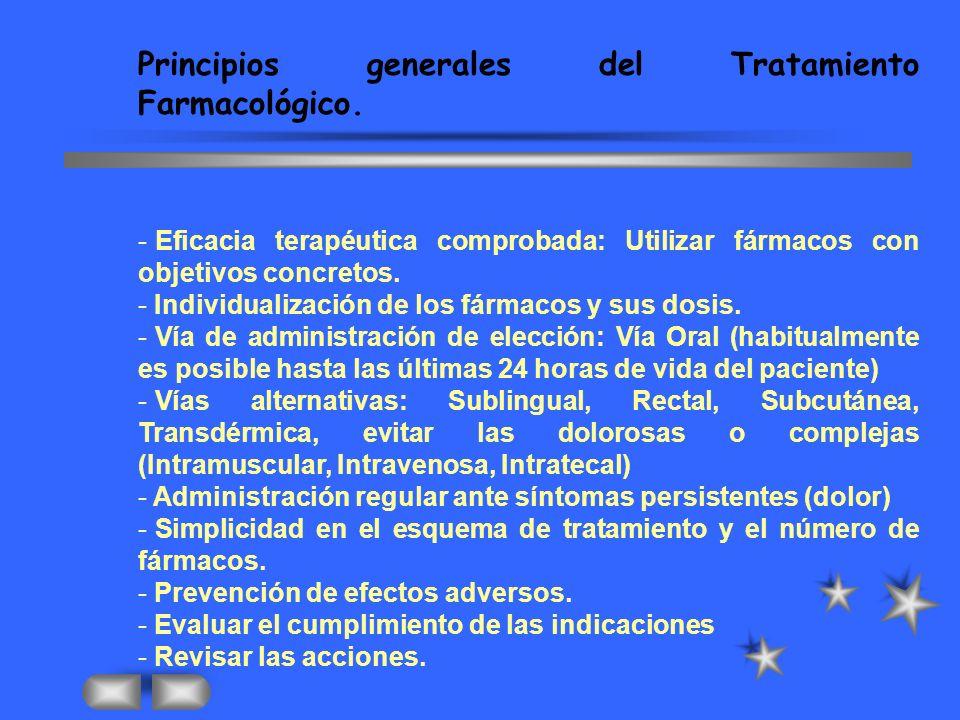 Principios generales del Tratamiento Farmacológico.