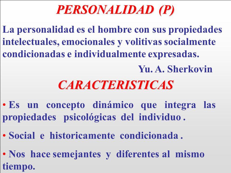 PERSONALIDAD (P) CARACTERISTICAS