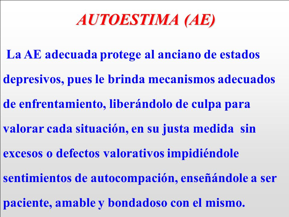 AUTOESTIMA (AE)