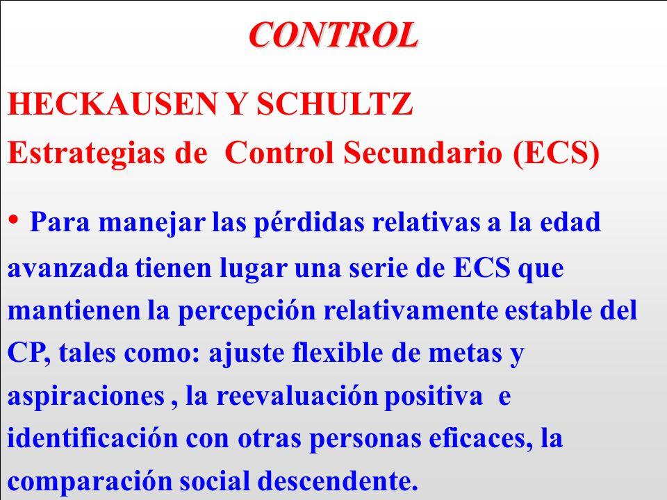 CONTROL HECKAUSEN Y SCHULTZ. Estrategias de Control Secundario (ECS)