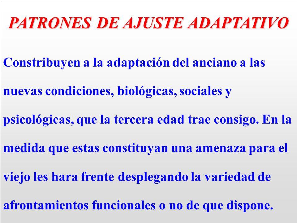 PATRONES DE AJUSTE ADAPTATIVO