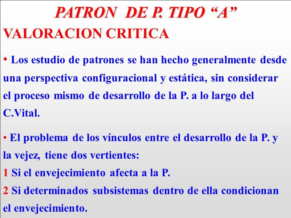 PATRON DE P. TIPO A VALORACION CRITICA