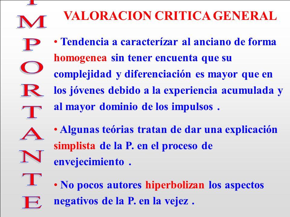 VALORACION CRITICA GENERAL
