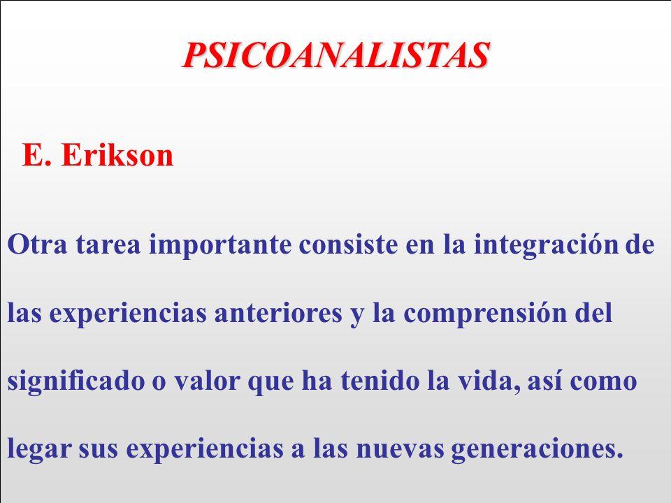 PSICOANALISTAS E. Erikson