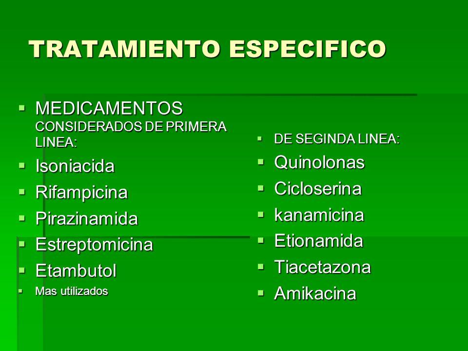TRATAMIENTO ESPECIFICO