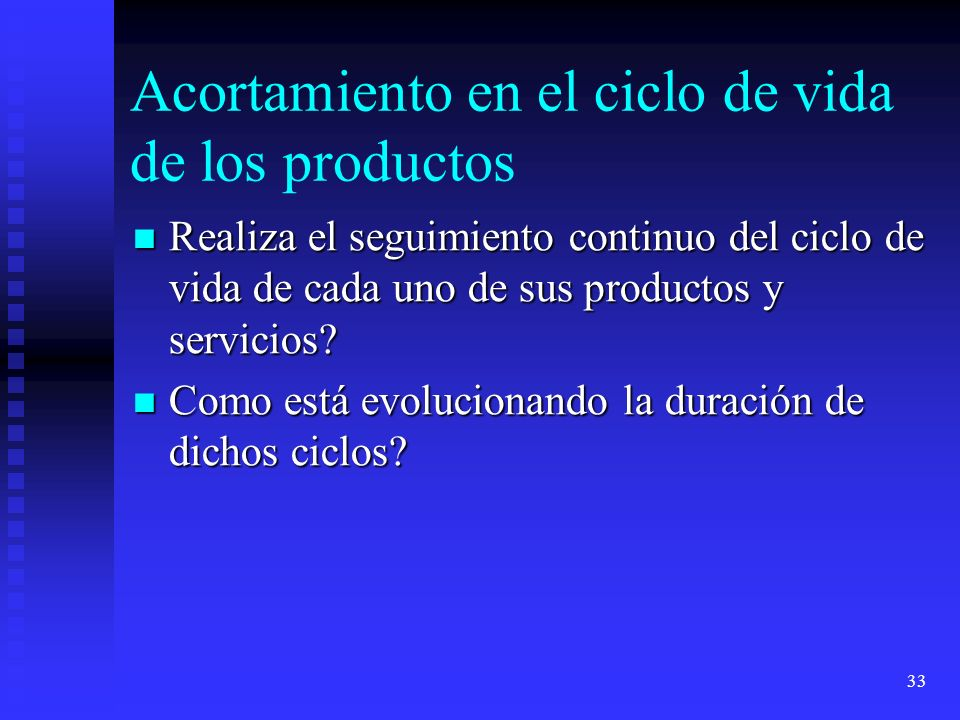 Acortamiento en el ciclo de vida de los productos