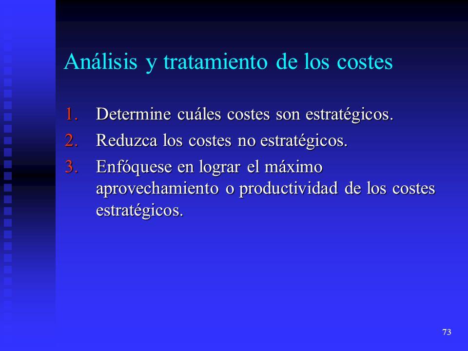 Análisis y tratamiento de los costes