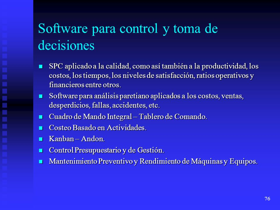 Software para control y toma de decisiones