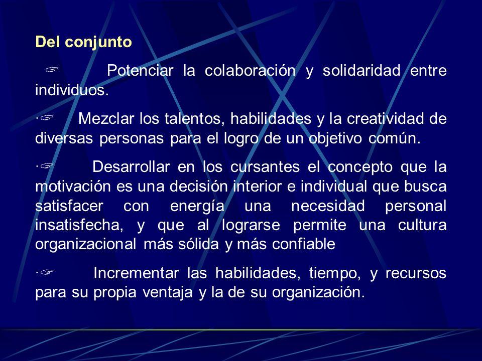 Del conjunto Potenciar la colaboración y solidaridad entre individuos.