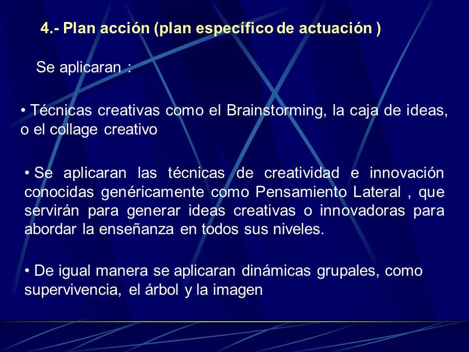 4.- Plan acción (plan específico de actuación )