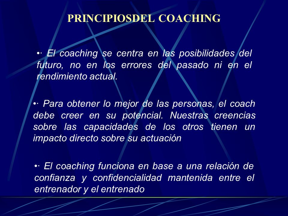 PRINCIPIOSDEL COACHING