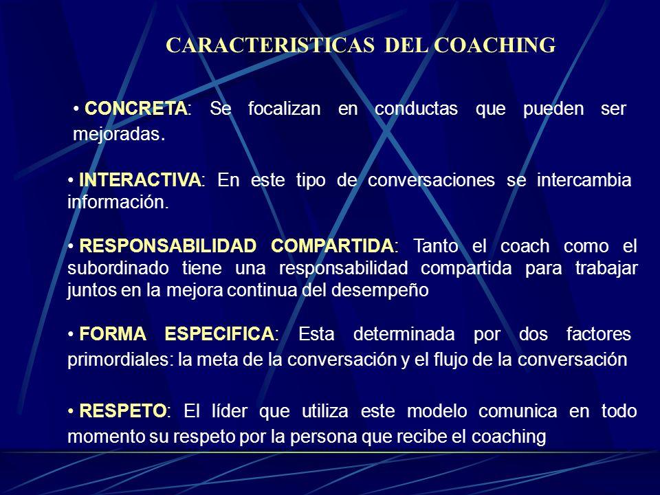 CARACTERISTICAS DEL COACHING