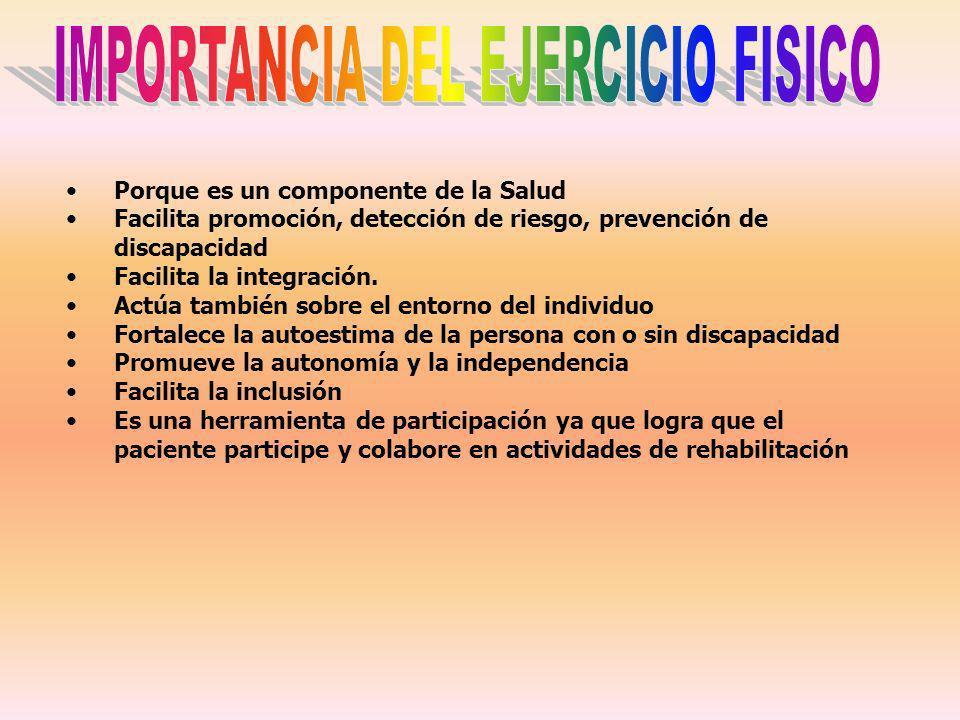 IMPORTANCIA DEL EJERCICIO FISICO