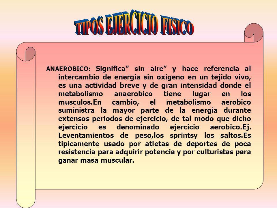 TIPOS EJERCICIO FISICO