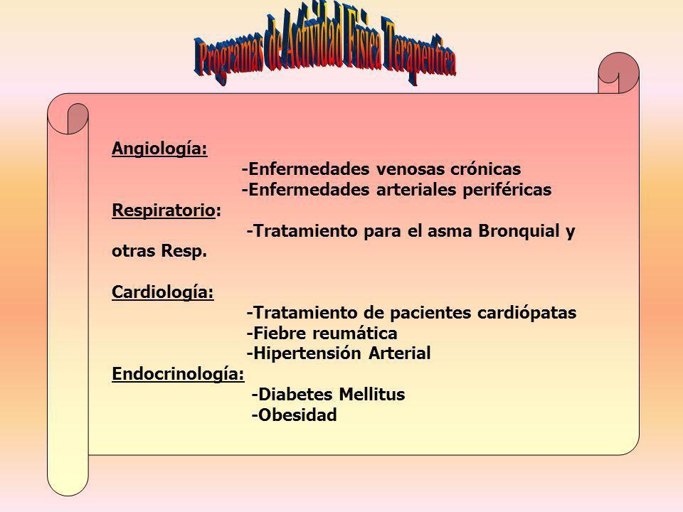 Programas de Actividad Fisica Terapeutica