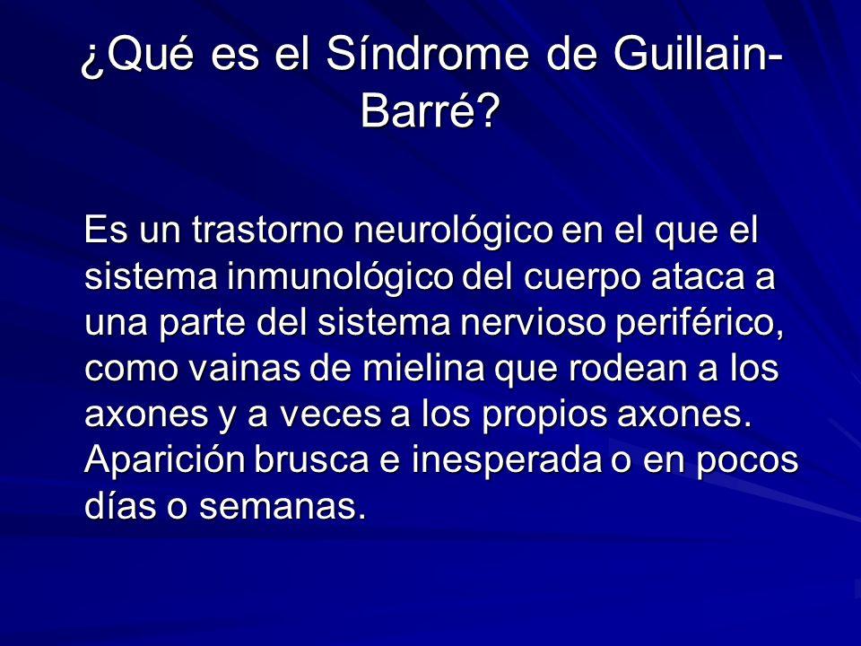 ¿Qué es el Síndrome de Guillain-Barré