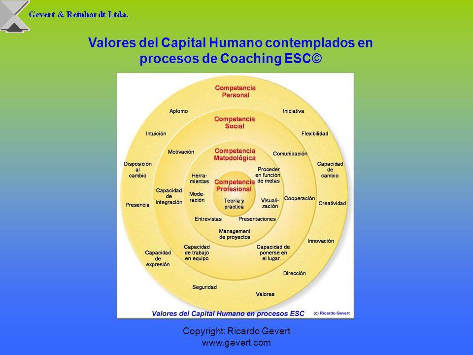 Valores del Capital Humano contemplados en procesos de Coaching ESC©