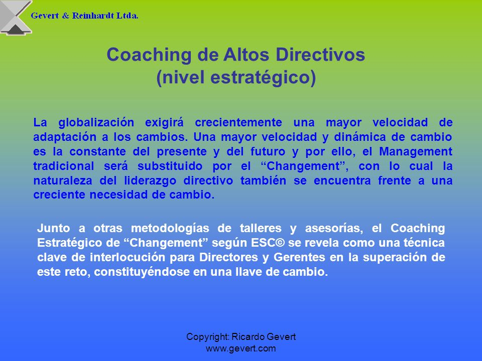 Coaching de Altos Directivos