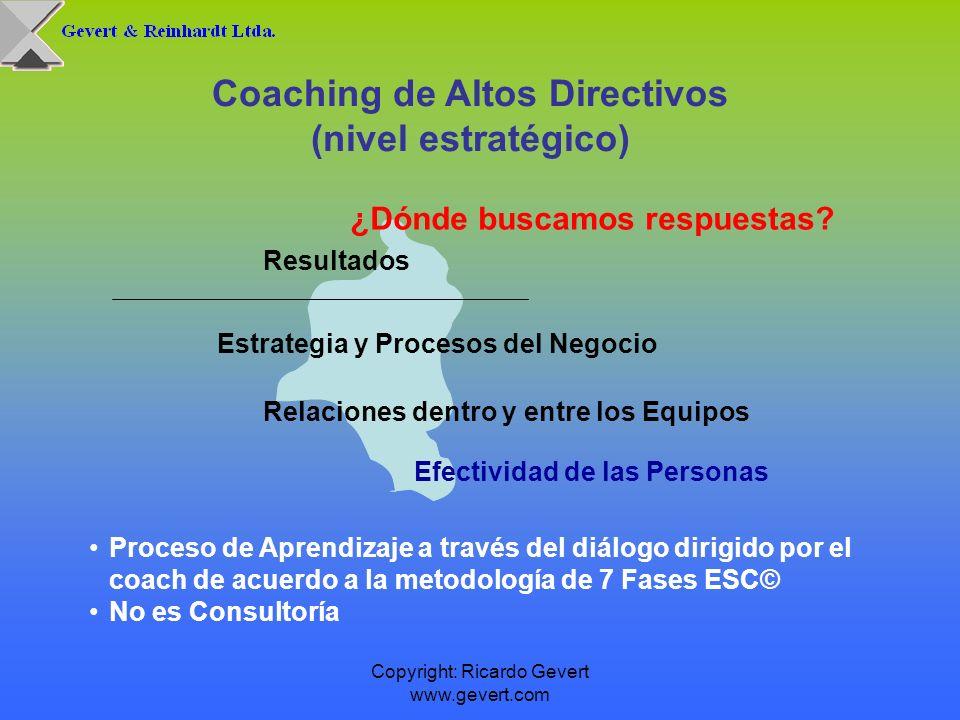 Coaching de Altos Directivos ¿Dónde buscamos respuestas