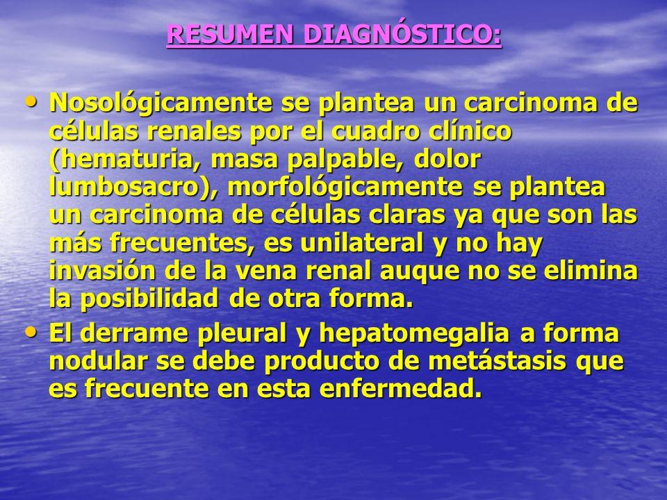 RESUMEN DIAGNÓSTICO: