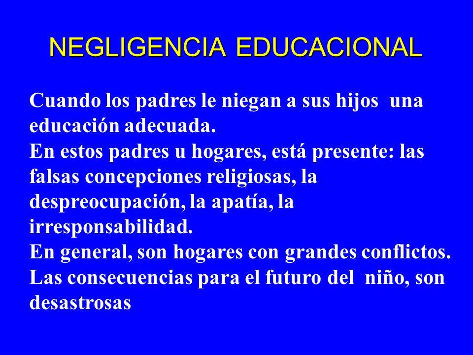 NEGLIGENCIA EDUCACIONAL