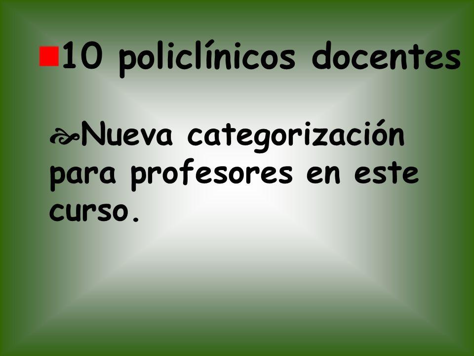 10 policlínicos docentes