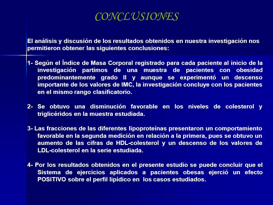 CONCLUSIONES El análisis y discusión de los resultados obtenidos en nuestra investigación nos. permitieron obtener las siguientes conclusiones: