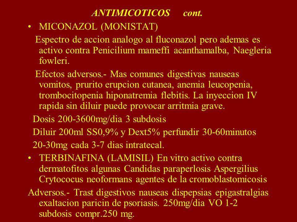 ANTIMICOTICOS cont.MICONAZOL (MONISTAT)