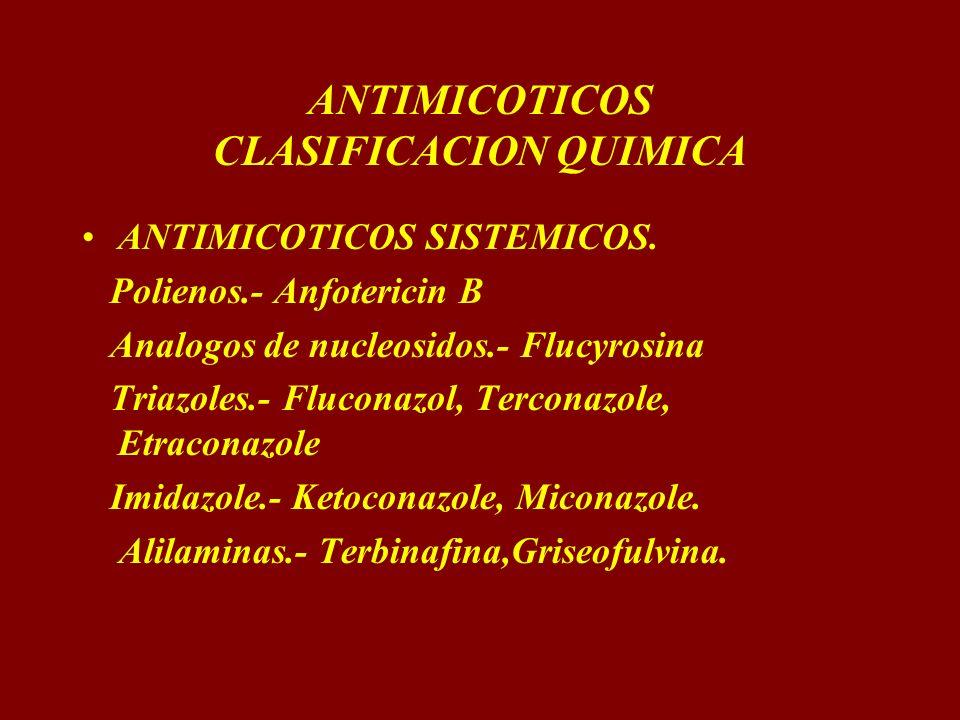 ANTIMICOTICOS CLASIFICACION QUIMICA