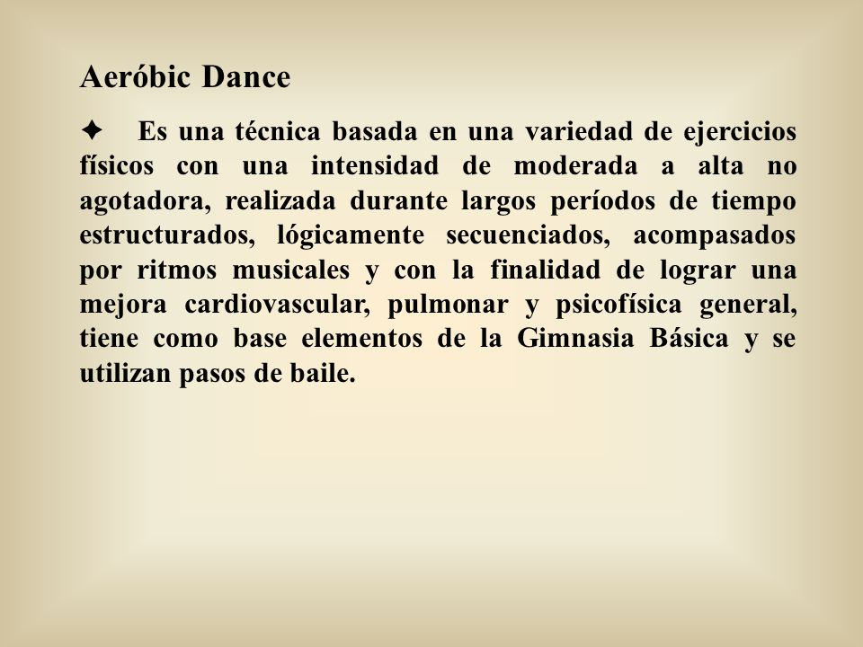 Aeróbic Dance