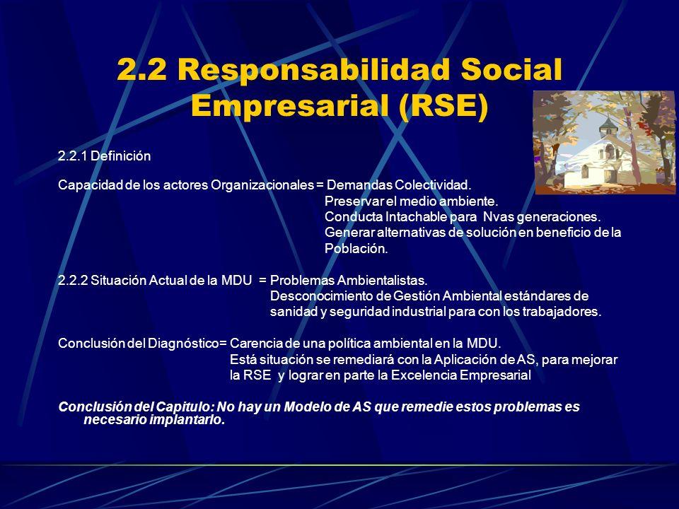 2.2 Responsabilidad Social Empresarial (RSE)