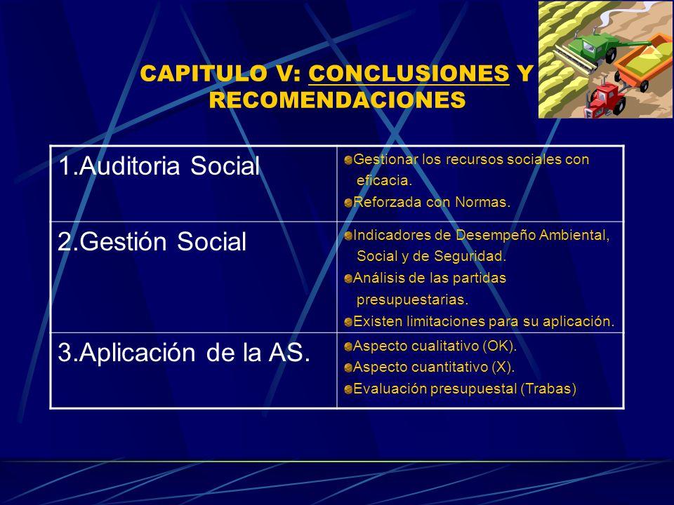 CAPITULO V: CONCLUSIONES Y RECOMENDACIONES