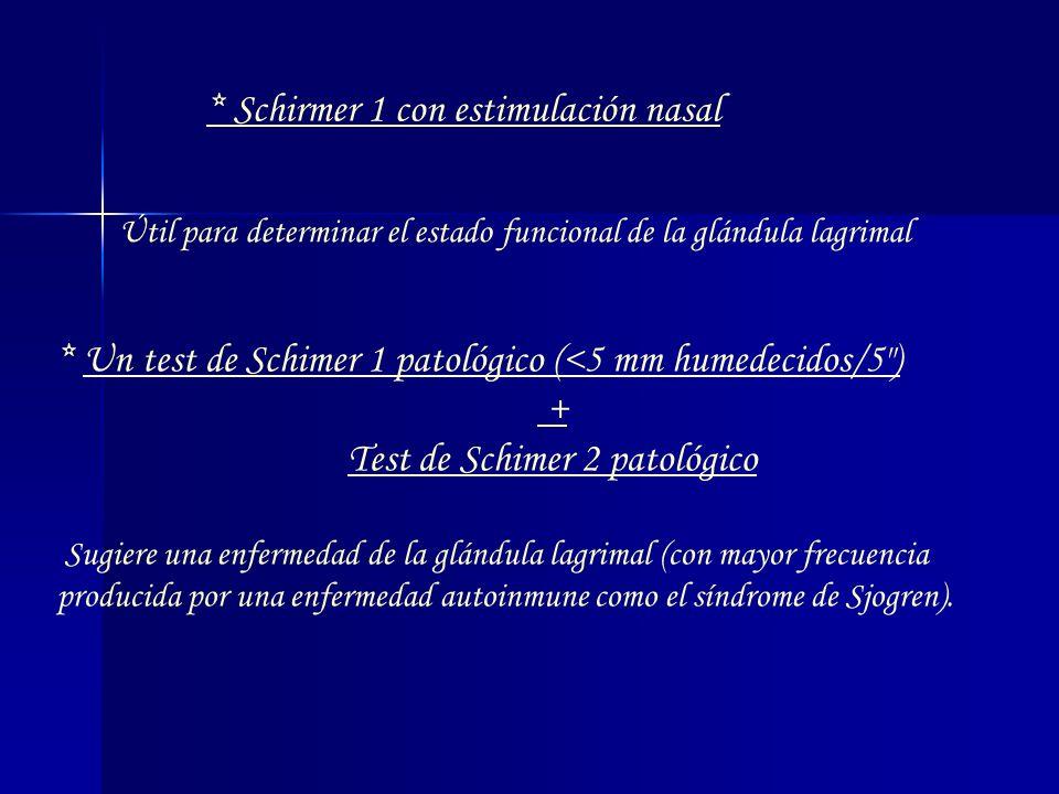 Test de Schimer 2 patológico