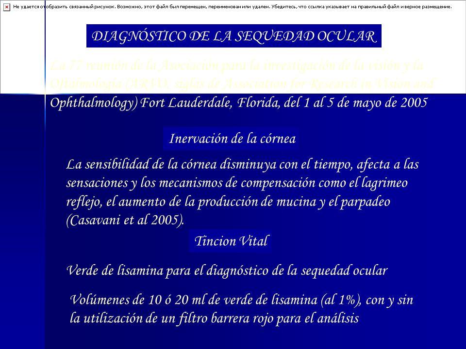 DIAGNÓSTICO DE LA SEQUEDAD OCULAR