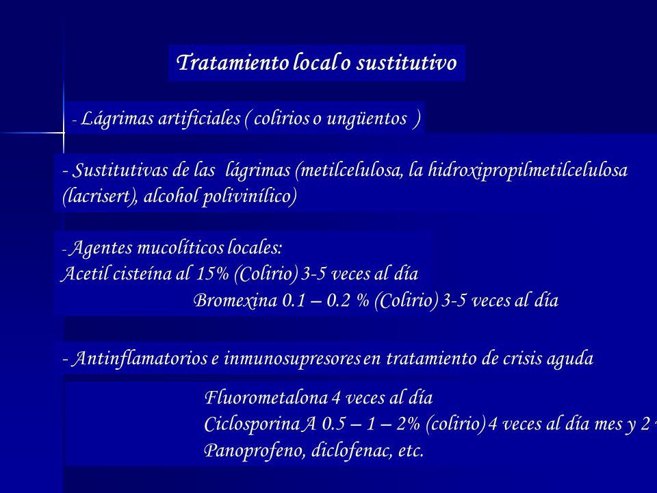 Tratamiento local o sustitutivo