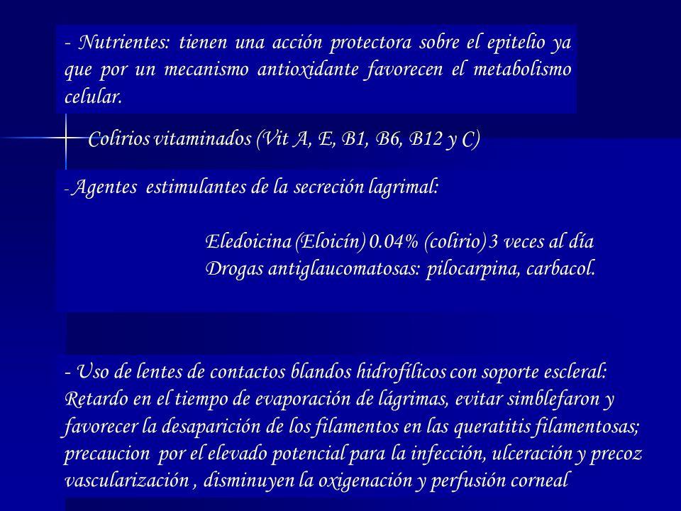 Colirios vitaminados (Vit A, E, B1, B6, B12 y C)