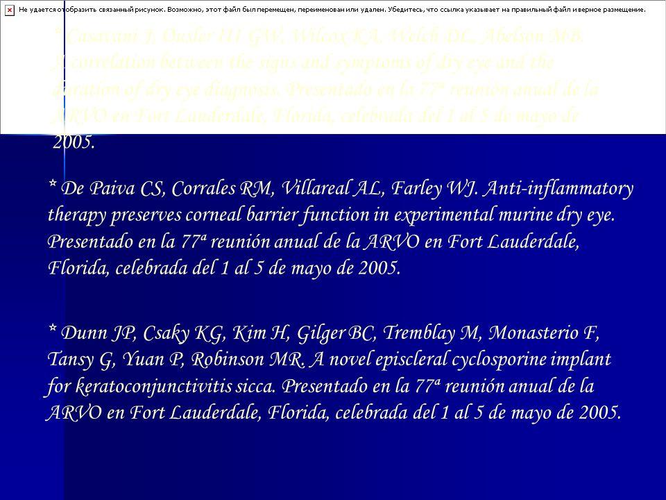 Casavani J, Ousler III GW, Wilcox KA, Welch DL, Abelson MB