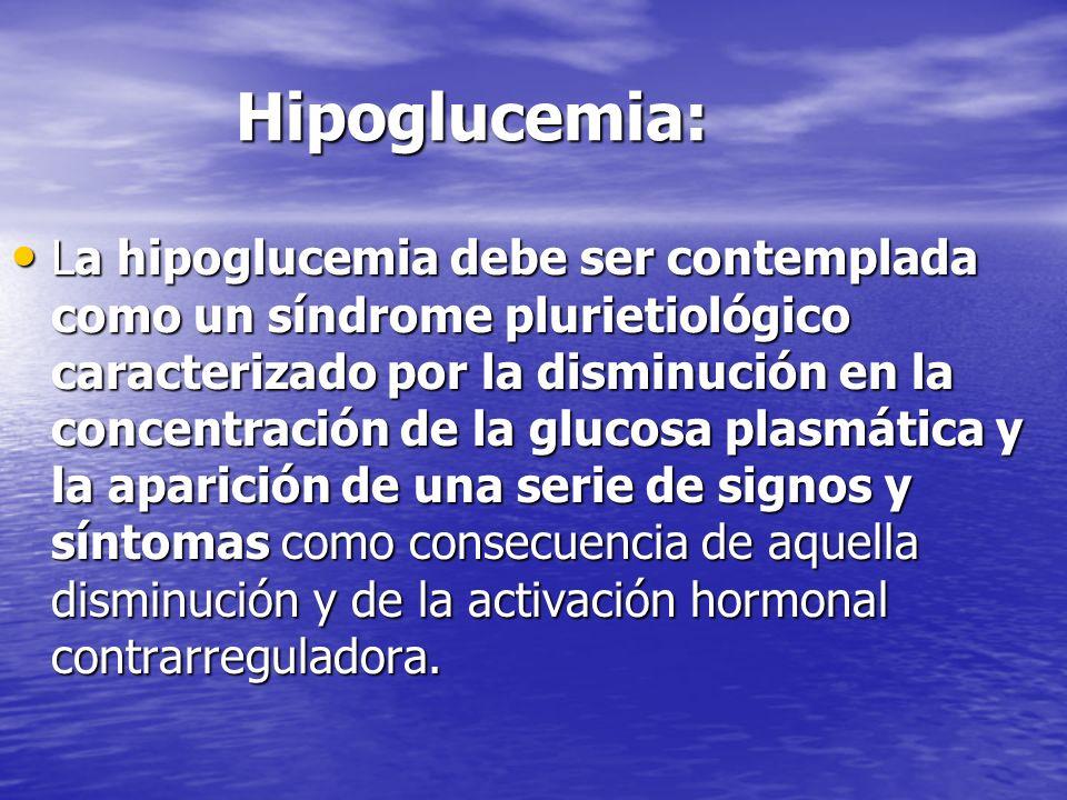 Hipoglucemia: