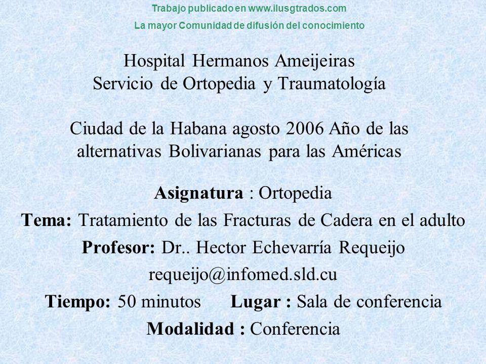 Asignatura : Ortopedia
