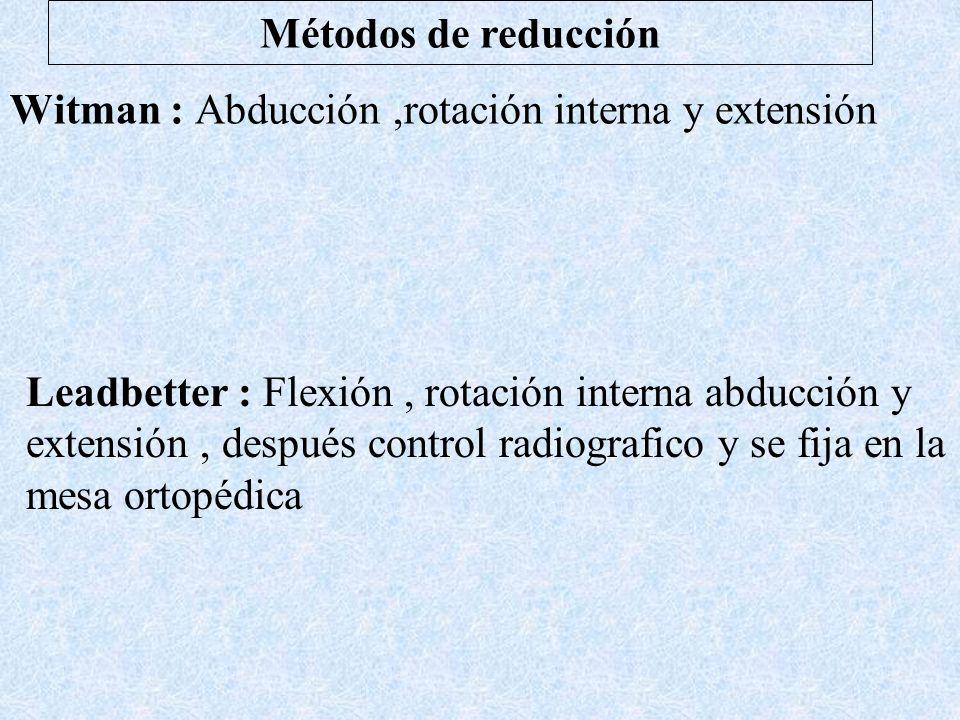 Witman : Abducción ,rotación interna y extensión
