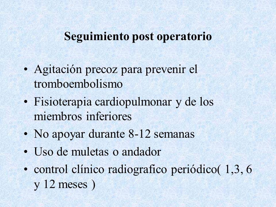 Seguimiento post operatorio