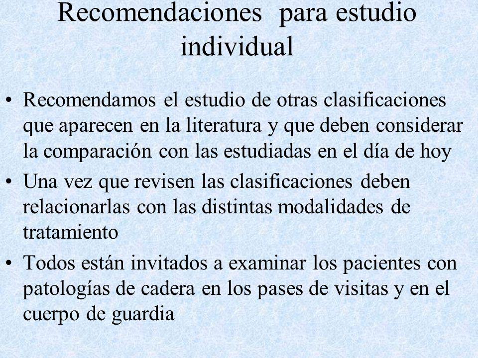 Recomendaciones para estudio individual