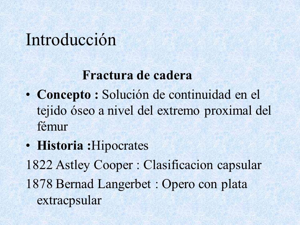 Introducción Fractura de cadera