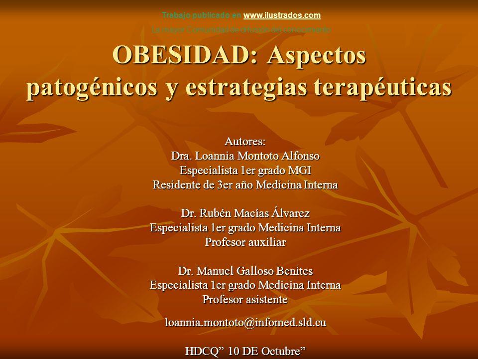 OBESIDAD: Aspectos patogénicos y estrategias terapéuticas