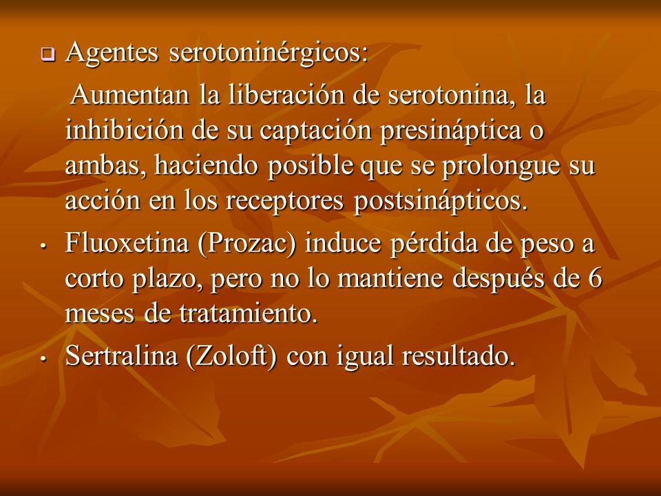 Agentes serotoninérgicos: