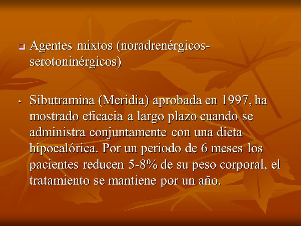 Agentes mixtos (noradrenérgicos-serotoninérgicos)
