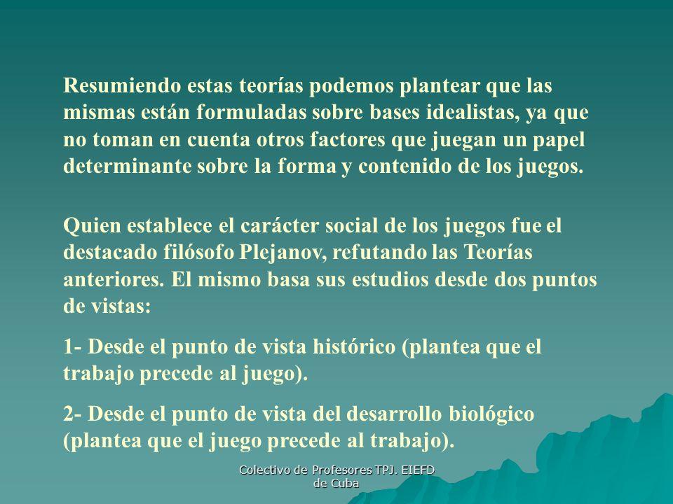Colectivo de Profesores TPJ. EIEFD de Cuba
