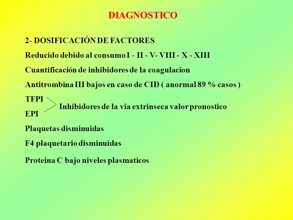 DIAGNOSTICO 2- DOSIFICACIÓN DE FACTORES