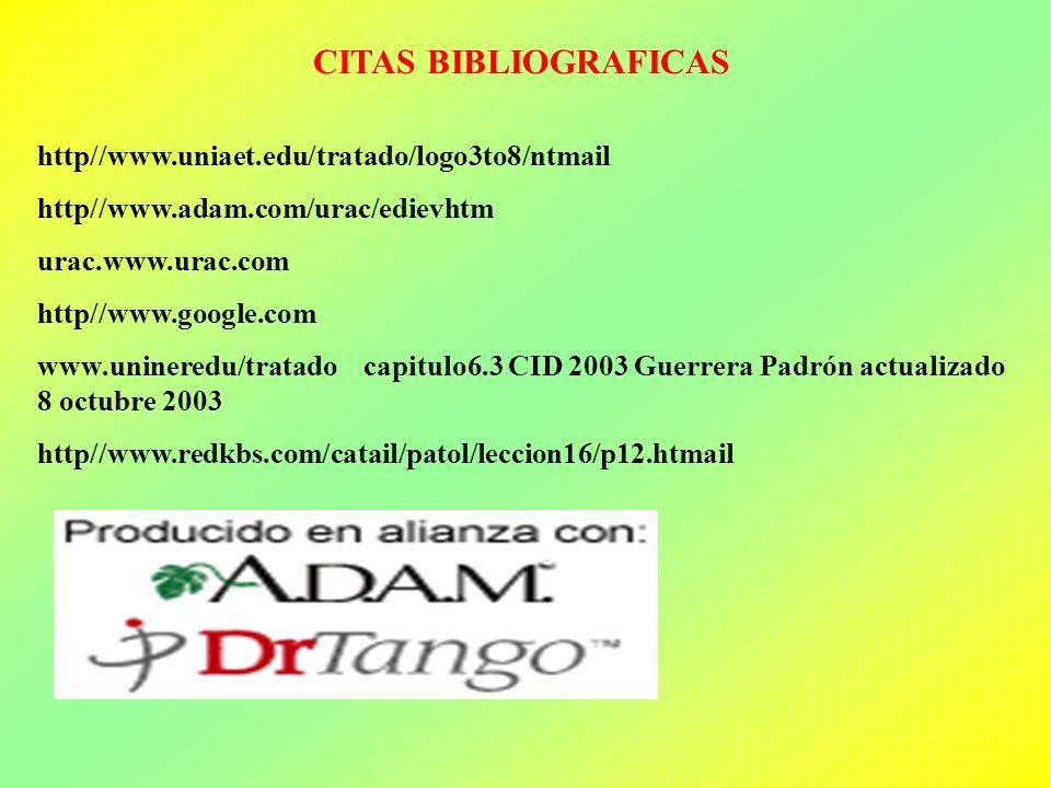CITAS BIBLIOGRAFICAS http//www.uniaet.edu/tratado/logo3to8/ntmail