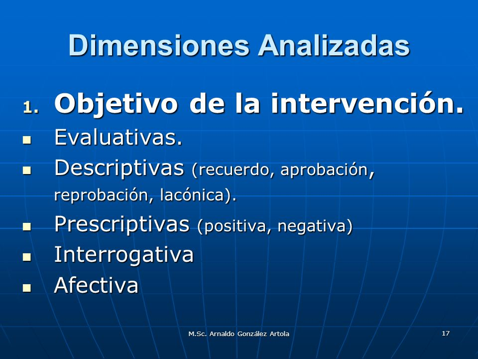 Dimensiones Analizadas
